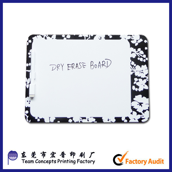 Custom printing promotional paper dry erase board with pen for kids