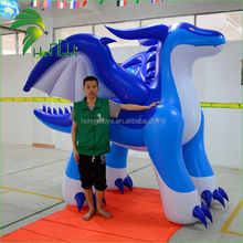 Wonderful Blue Self Inflating Helium Chinese Dragon Cartoon , Giant Inflatable Toothless Dragon