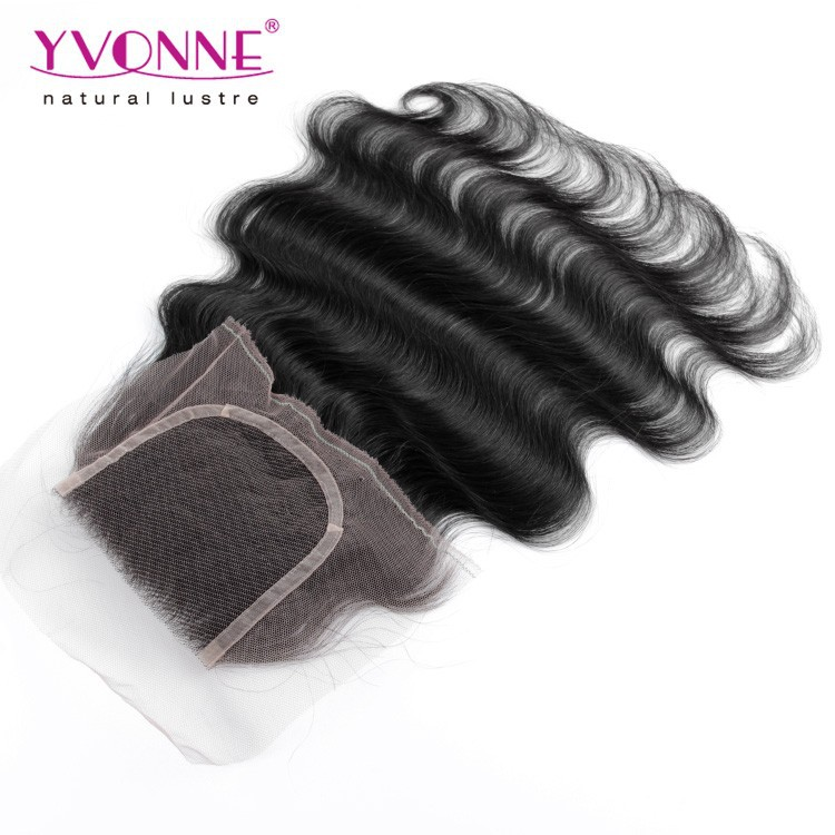 hair silk base closure piece