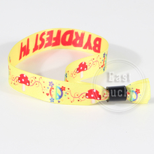 Wholesale sublimation design one time use wristbands make your own logo custom wrist band