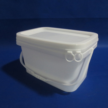 cheap white plastic rectangular and square plastic bucket