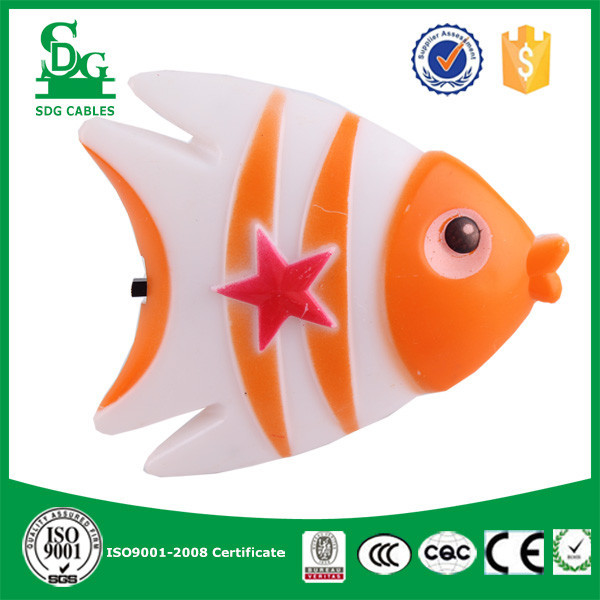CE energy saving portable switch led table lamp fish shape night light