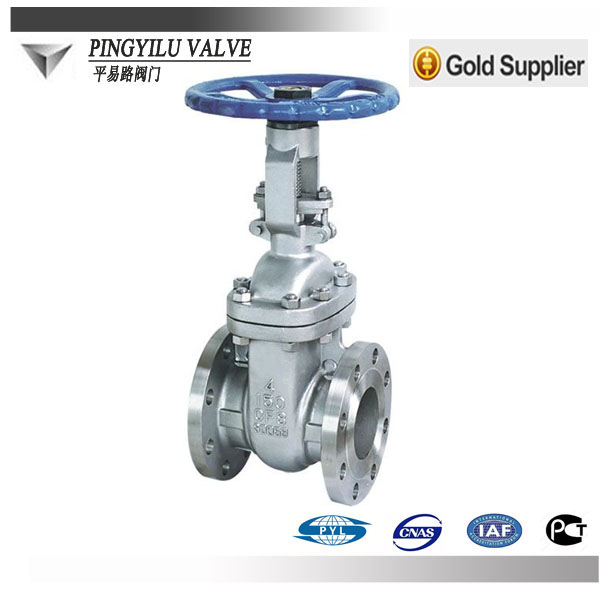 Class150 ansi standard flange stainless steel gate valve