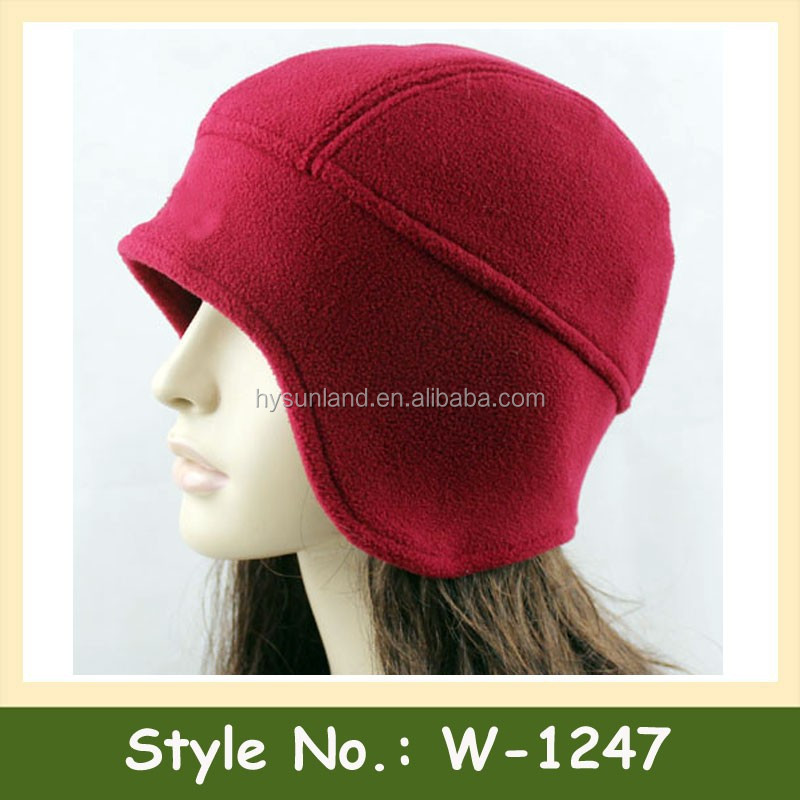 W-1247 unisex warm chunky cotton beanie earflap winter hat