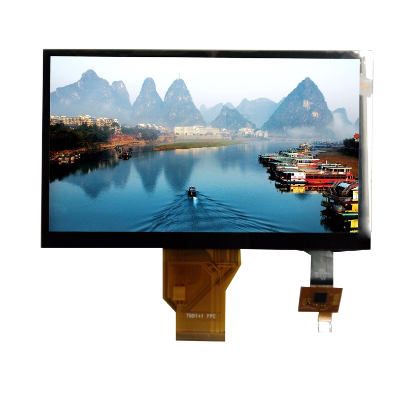 "7"" TFT LCD with 800 X 480 Dots Resolution and High Brightness 1000 nits"