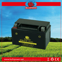 China manufacturer 12v 7ah motorcycle MF battery