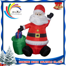 inflatable Santa Claus cartoons model character replicas costume for Christmas decoration