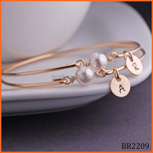 Fashion women gold color pearl pearl barcelet jewelry