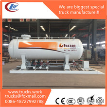 pressure vessel 15000Liters carbon steel LPG skid station LPG storage tank