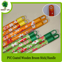 PVC Coated Long Wooden Broom Handle With Good Eucalyptus Wood Material