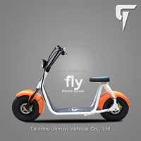 Big Wheel Battery Operated Orange Electric scooter With Lithium Battery Bike