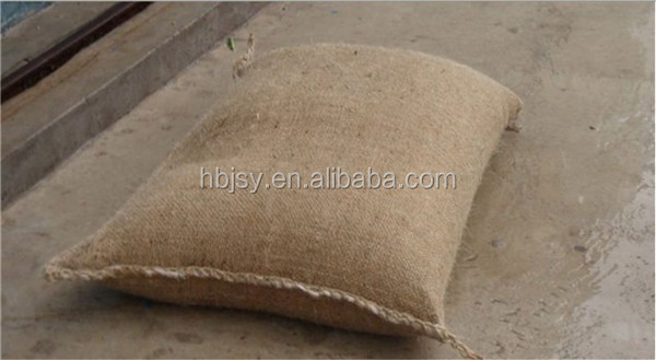 Hot sale! Flood defence jute bag, instant inflatable sandless sandbag