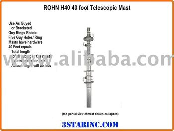 40 foot Telescopic Antenna Mast