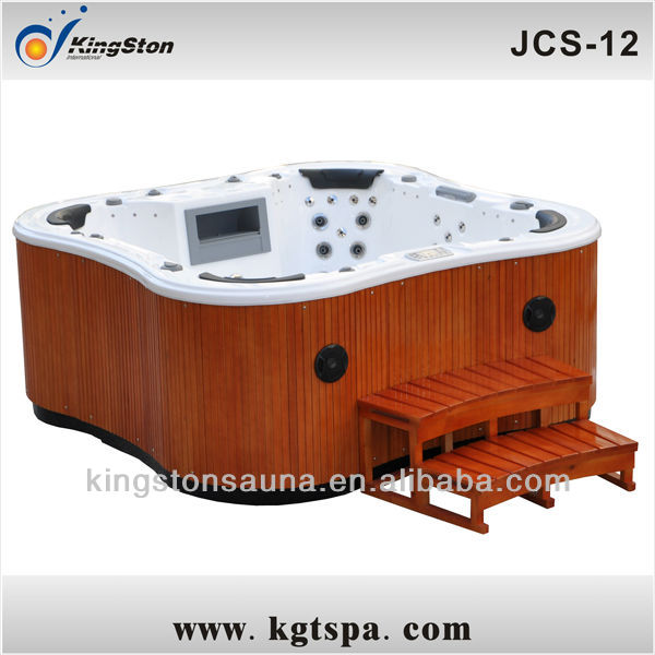 Garden furniture Arc Spa bath hot tub JCS-12 with 7-color water fountain