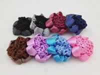 crochet dot satin hair net snood bun cover