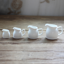 Multiple specifications creative white ceramic non handle milk cup