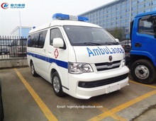 Export Jinbei MPV MT type 139hp first aid guardianship ambulance car for sale