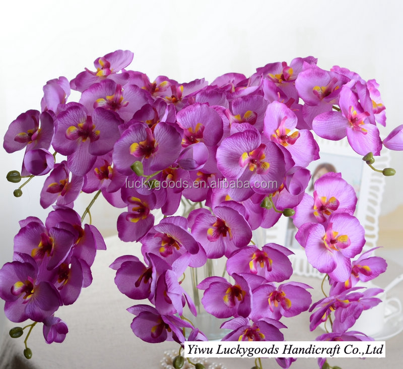 LF440 wedding ceremony favor artificial mini purple orchid for sale
