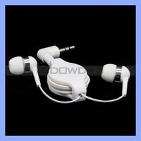 3.5mm Stereo Ear Buds Retractable Earphone Logo Custom