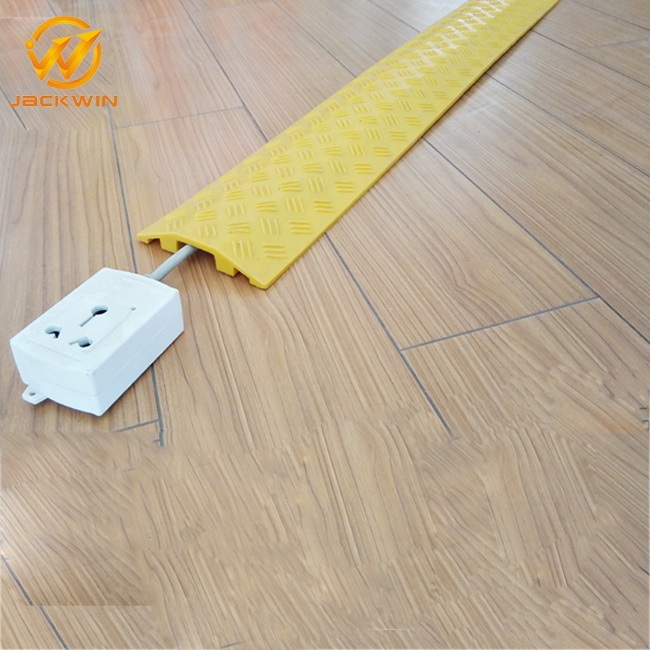 Light Duty 1 Channel Plastic Floor Cord Protector/Cord Cover/Wire Protector