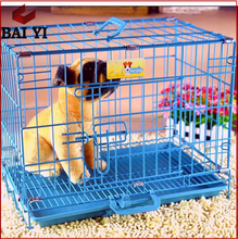 Direct Sale New Design Coloful Stainless Steel Display Dog Cage