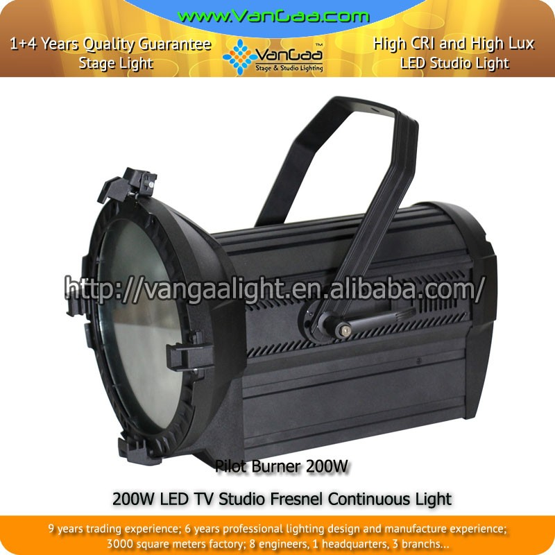200W LED TV Studio Fresnel Continuous 200W LED Light Fresnel Spot Light