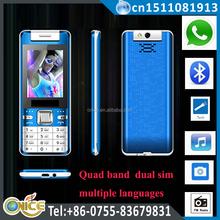 Q218 2.4 inch dual sim working same time mobile phone with whatsapp torch rotate camera GSM phone