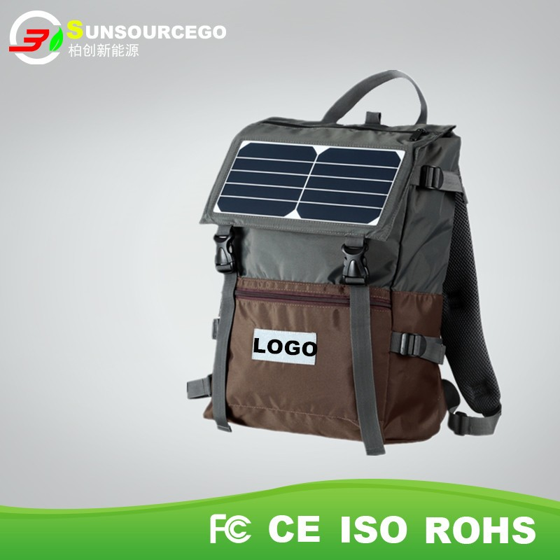 High quality portable solar charger bag outdoor solar backpack bag with high power