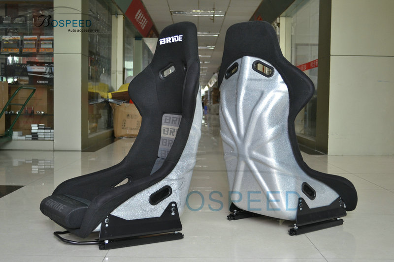 Bride bucket racing seat sivler back racing sport seat -MO