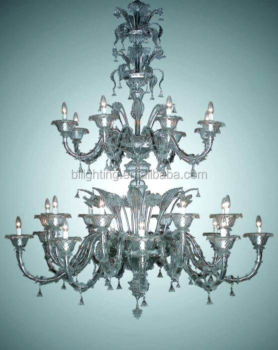 Modern big size glass arm chandelier murano