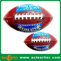 380-410g PVC PU leather size #9 American football with rubber bladder