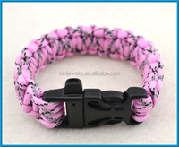 adjustable shackle paracord survival straps weaves style bracelet