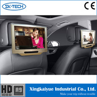 "HOT! android 4.4 10.1"" Capacitive Touch Screen Universal headrest monitor dvd player back seat tv for car with lcd monitor"