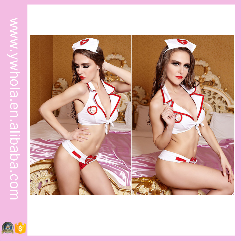 2016 Hot fashion nurse cosplay women sexy lingerie nude lingerie for young ladies