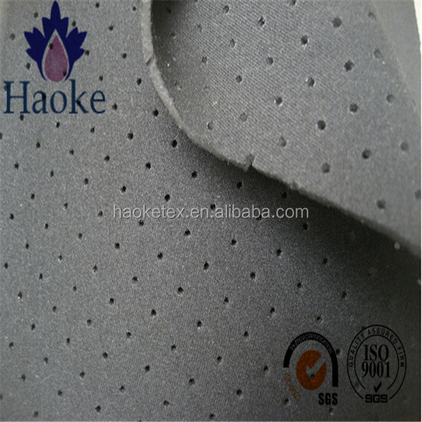 perforated neoprene with double-sided polyester knitted fabric