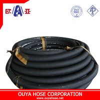 High quality and lowest price 4SH/4sp high pressure hose/ steel wire reinforced hydraulic rubber hose or rubber hose assembly