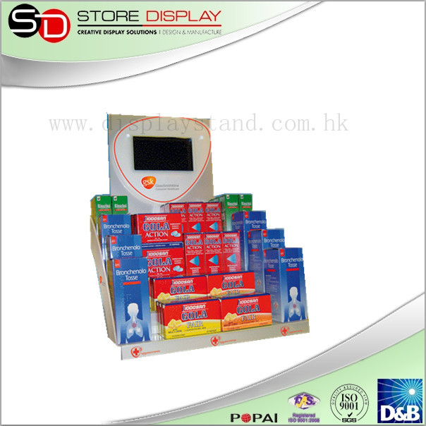 supermarket checkout Modern Style Wholesale Condom Display Stand point of purchase corrugated paper packing box pdq display box
