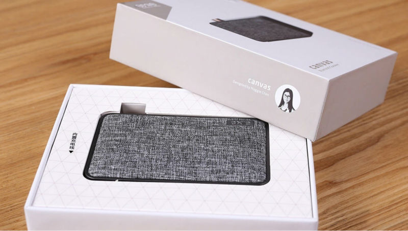 Emie Canvas Minimalist Ultra Compact Bluetooth Speaker Stereo Super Bass Indoor & Outdoor Portable Wireless Column Sound Box