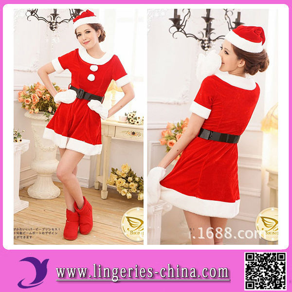 Wholesale Cheap Price Miss Santa Costume Lingerie WWW Sex Girl Com