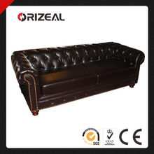 High quality PU Leather Chesterfield Couch OZ-SF-007-3