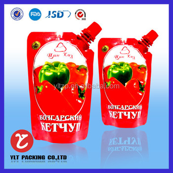 Wholesale spout bag for juice/milk packing in alibaba express