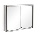 Double open doors stainless steel mirror cabinet 7004