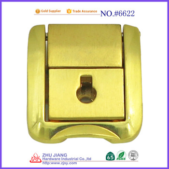 factory direct High Quality Golden Color Metal Clasp Locks 6622