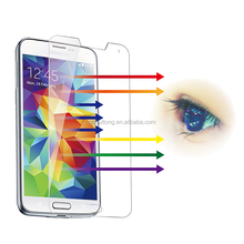 For Asahi anti glare 9H 2.5D explosion proof Cell Phone Premium Clear Gold tempered glass screen protector for Samsung Galaxy S5