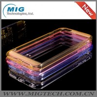 High quality super thin tpu cell phone case for iphone 6/ 6s, transparent + frosted mobile phone case/ cover for iphone 6 s plus