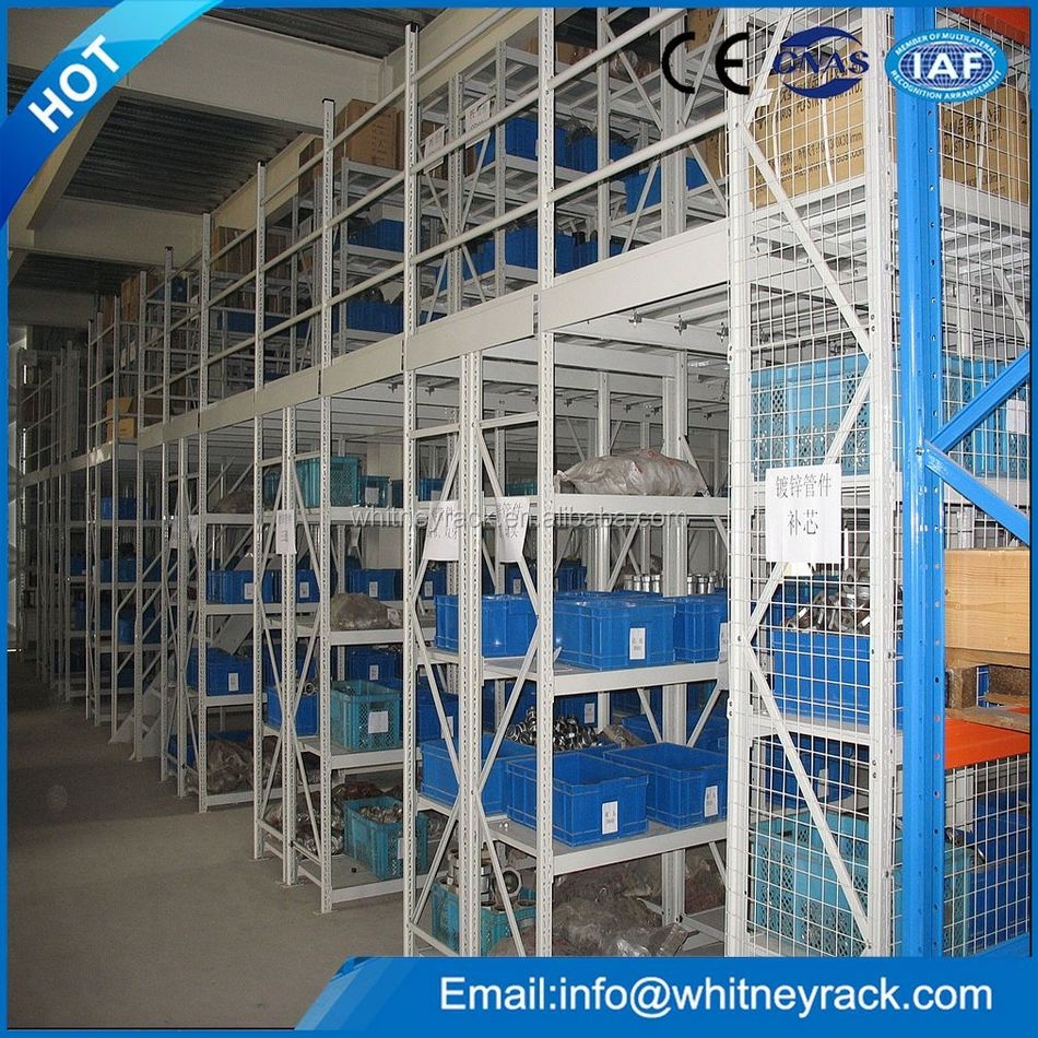 Widely used mezzanine metal rack & shelving,mezzanine shelves,warehouse storage multi-level mezzanine shelving