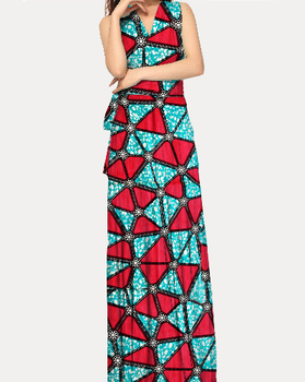 2016 latest fashion design african max print beach dresses stores wholesale