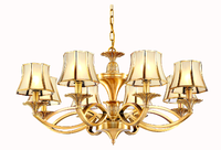 MC051-8H Wholesale Norble Solid 8 lights Antique Copper Brass Chandelier Lamp