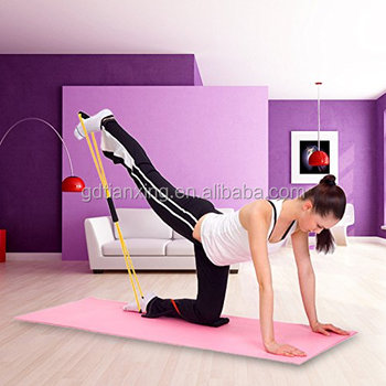 Wholesales 8 Shape Pilates Latex Exercise Tube Rubber Resistance Training Bands