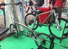 hot selling titanium folding bike frame with low price
